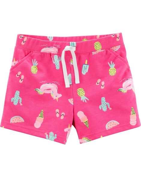 Neon Beach French Terry Shorts