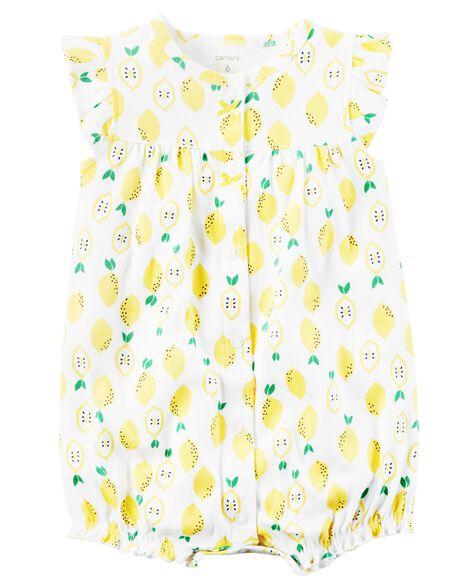 c9aa8920d Lemon Snap-Up Cotton Romper | Carters.com