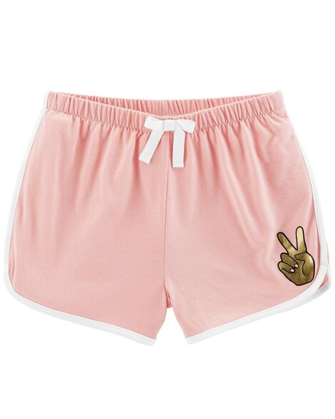Peace Sign French Terry Sleep Shorts