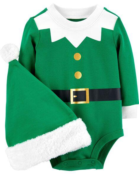 39a830d69 2-Piece Elf Bodysuit & Hat Set | Carters.com