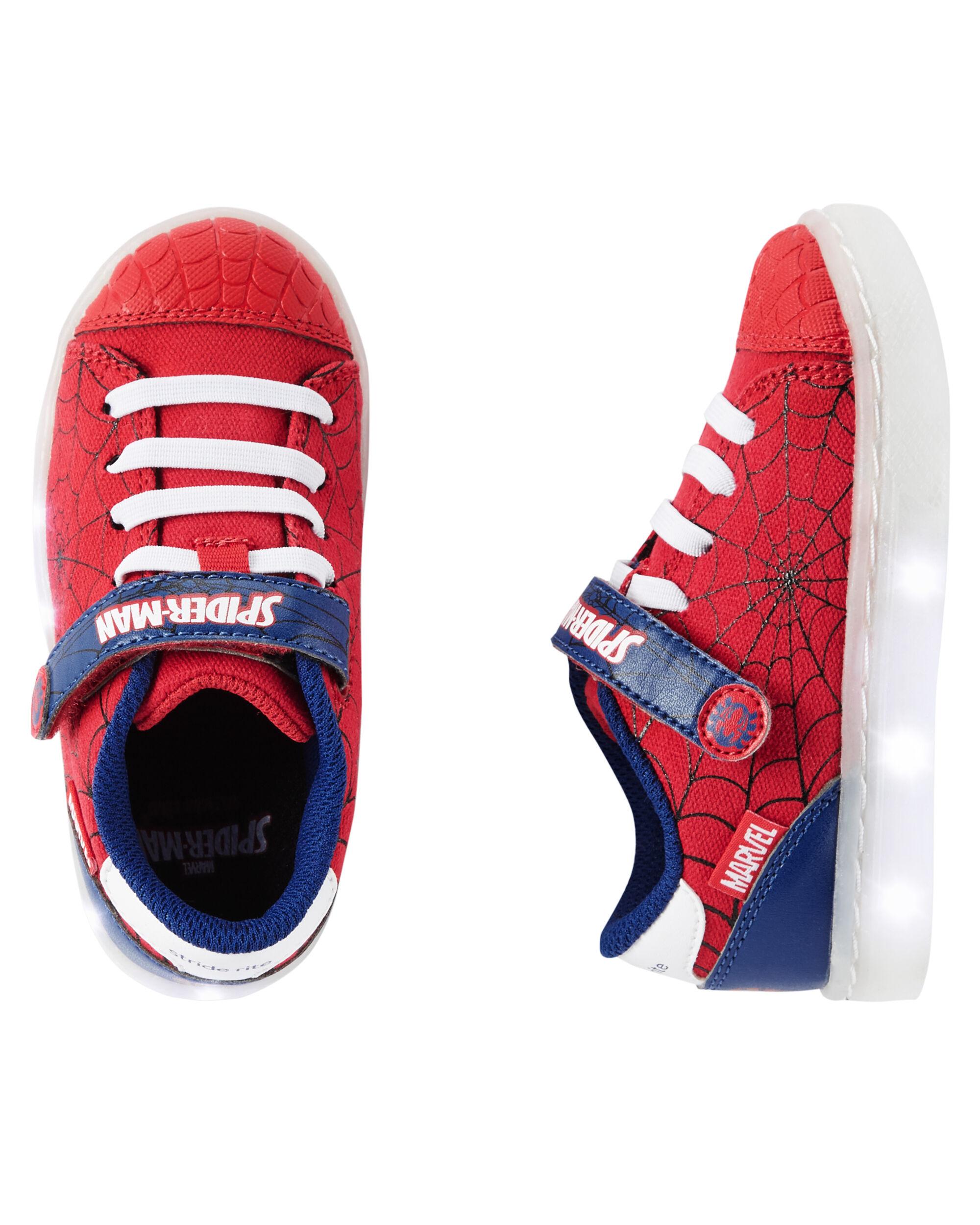 stride rite spiderman lighted sneaker
