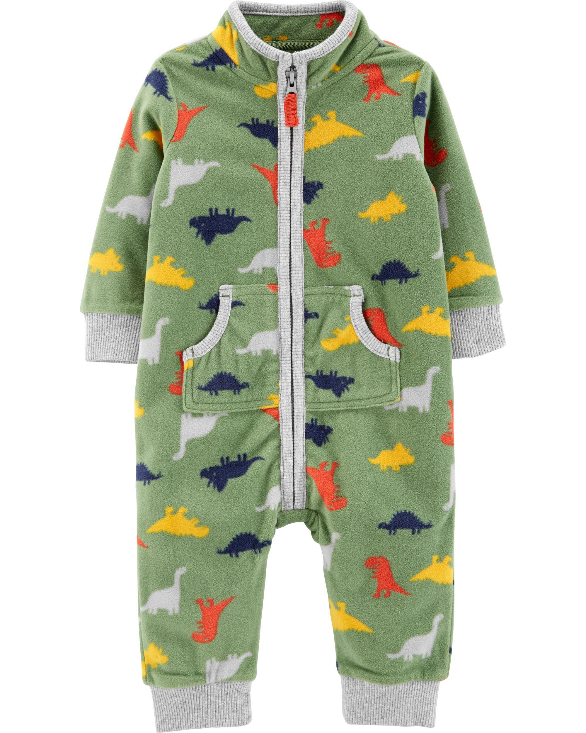 *DOORBUSTER* Dinosaur Zip-Up Fleece Jumpsuit