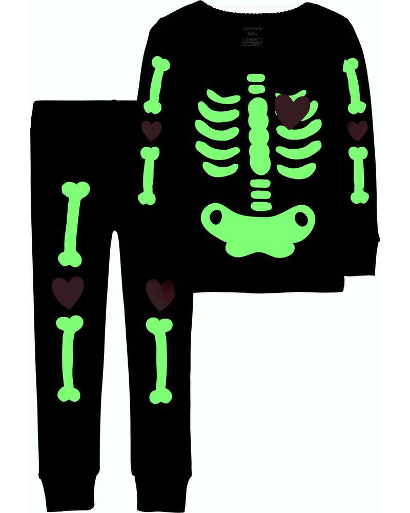 Carter/'s 4//5 Halloween Skeleton w//Pizza Boys Black T-Shirt Long Sleeve NWT 8721