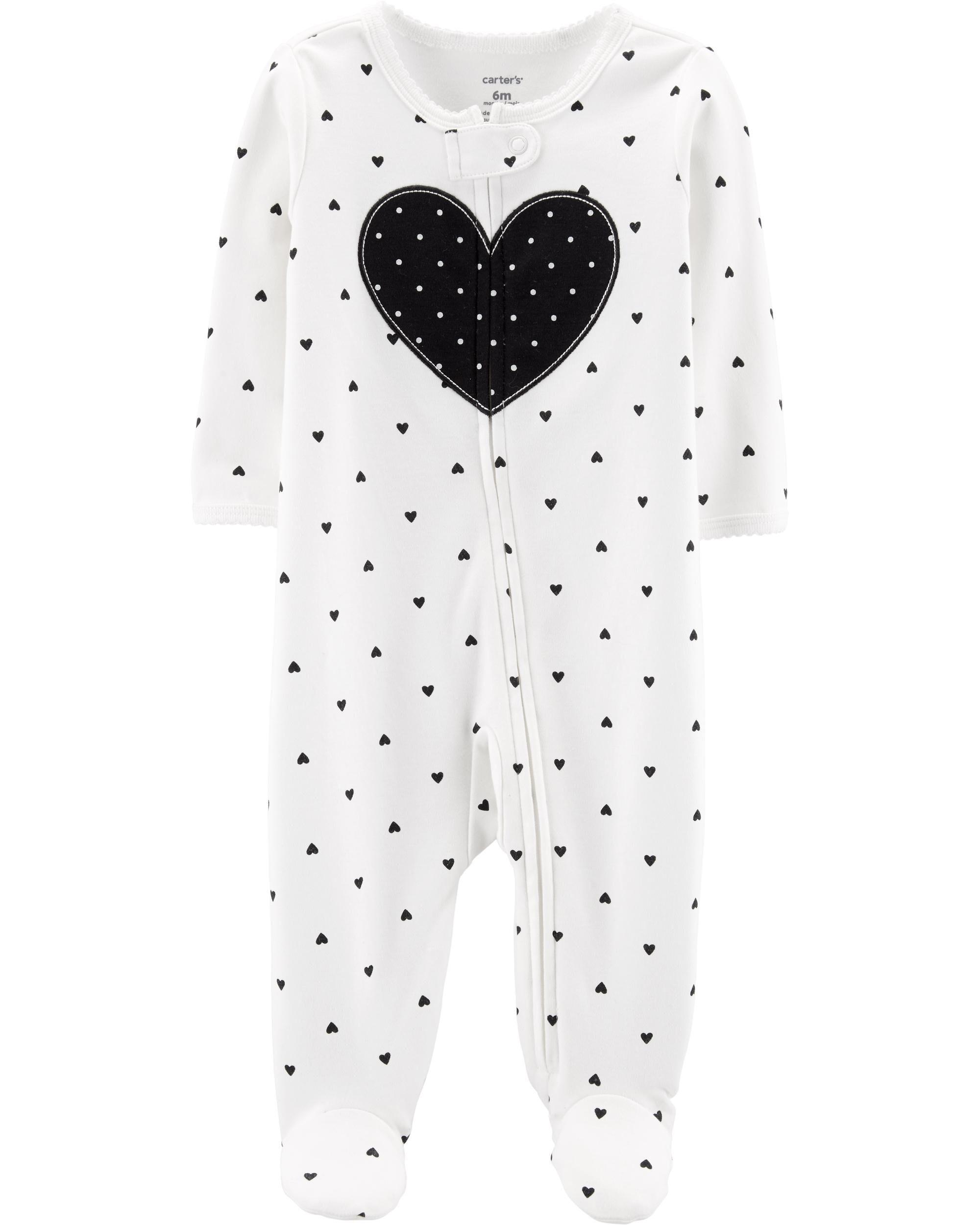 1cf28c56d Heart Zip-Up Cotton Sleep   Play