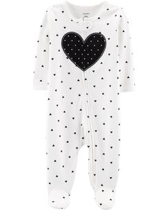 6111d254ae7 Heart Zip-Up Cotton Sleep   Play