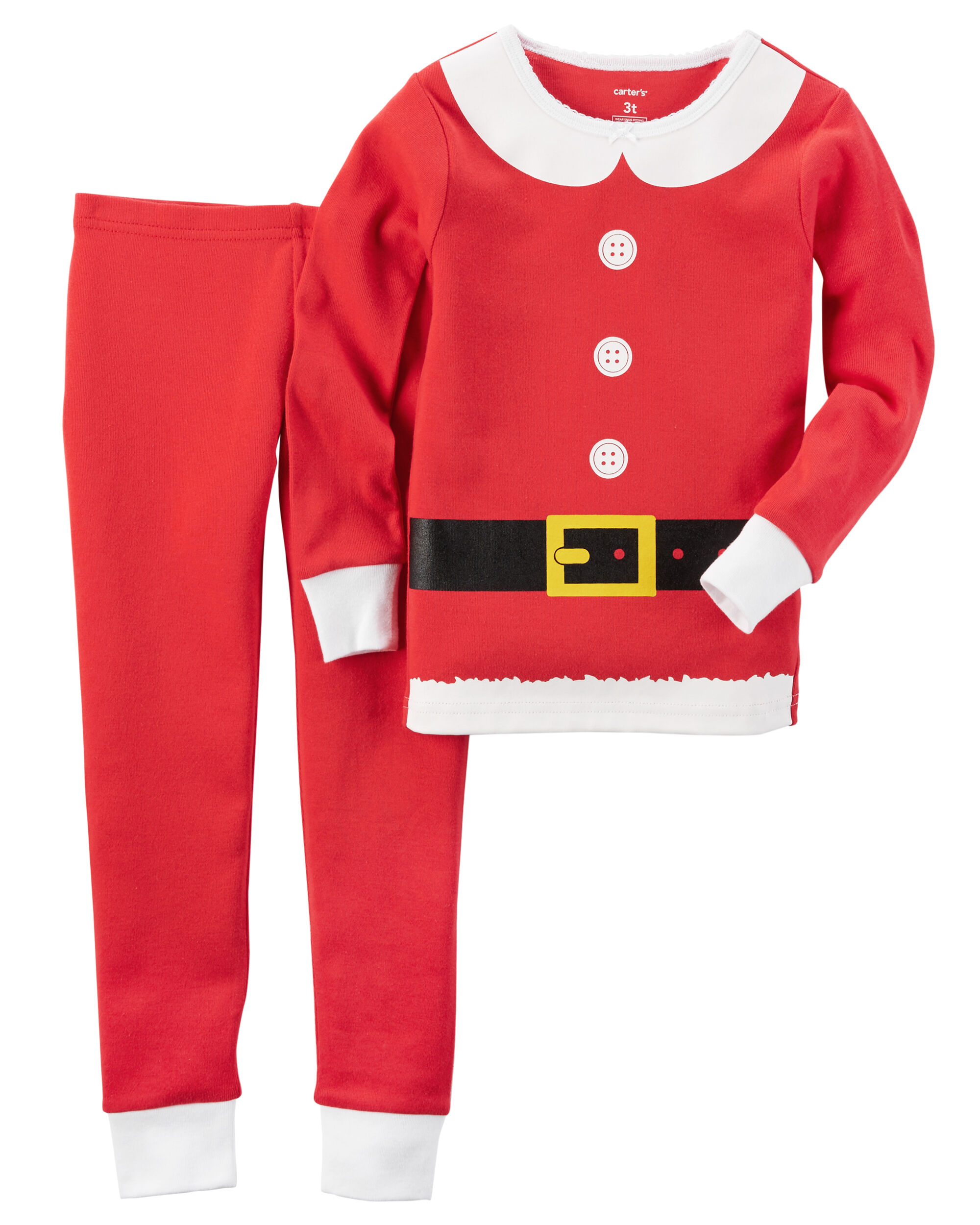 2 piece snug fit cotton christmas pjs loading zoom - Girls Christmas Nightgowns