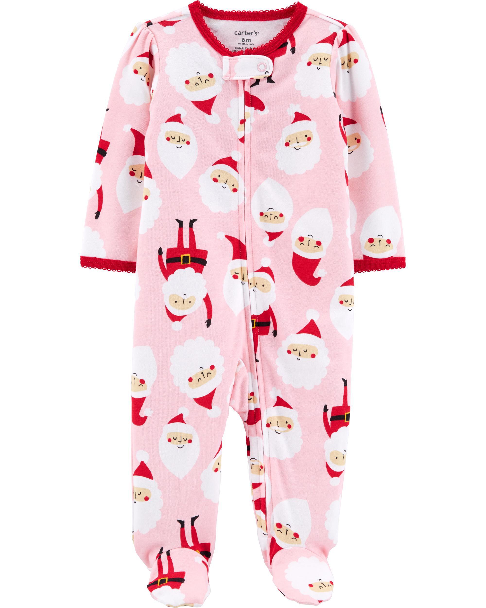 *CLEARANCE* Santa Zip-Up Cotton Sleep & Play