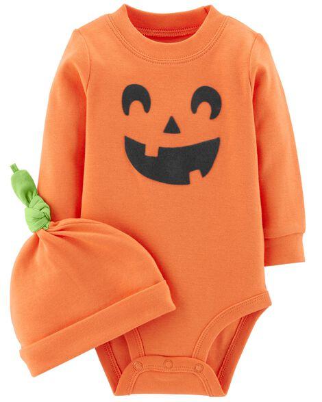 2-Piece Halloween Bodysuit & Cap Set