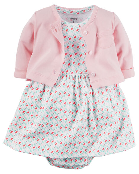 71c5191c4 2-Piece Babysoft Bodysuit Dress   Cardigan Set