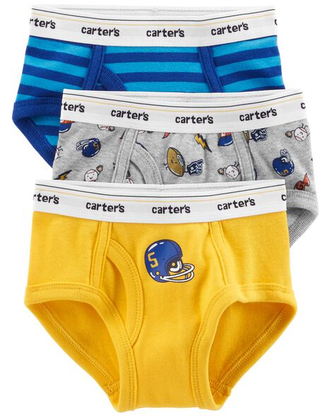 3 Pack Cotton Briefs by Carter's