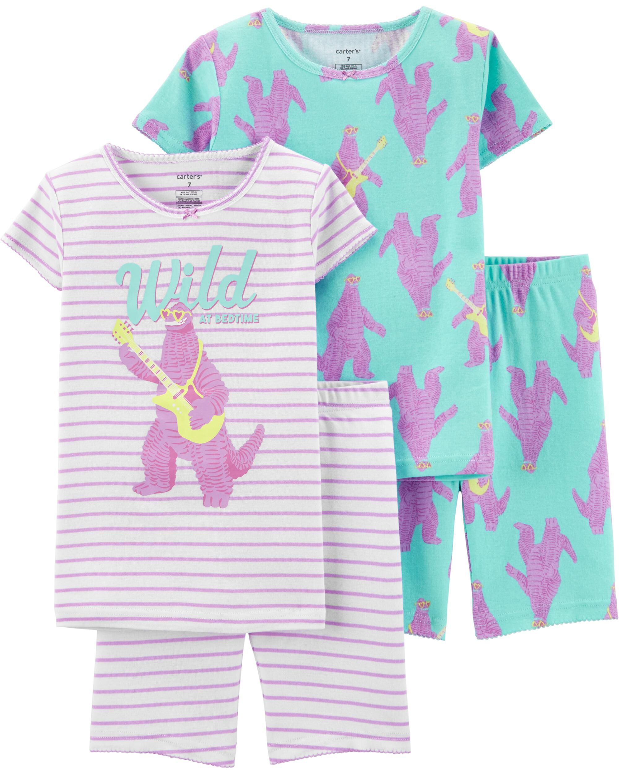 Girls' Clothing (newborn-5t) Carters Girls Pajamas Size 3t Pink Penguin Fleece Pjs Pants Long Sleeve Clothing, Shoes & Accessories