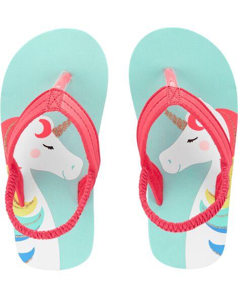 641d23c10 Carter s Unicorn Flip Flops ...