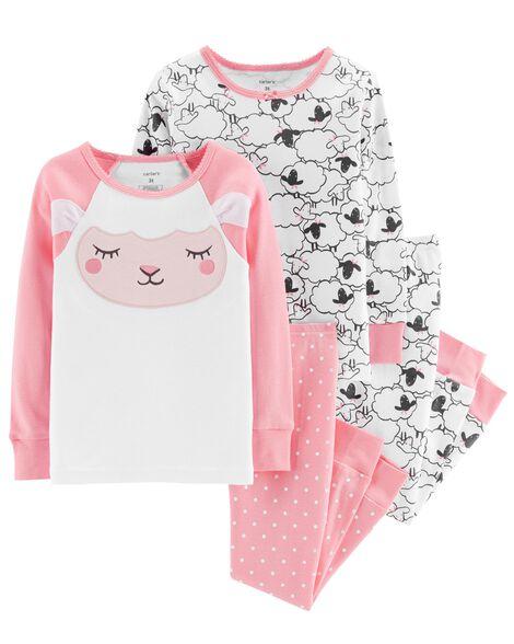 4507a2614e9ec 4-Piece Sheep Snug Fit Cotton PJs | Carters.com