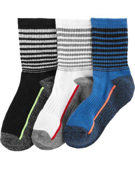 3-Pack Athletic Crew Socks