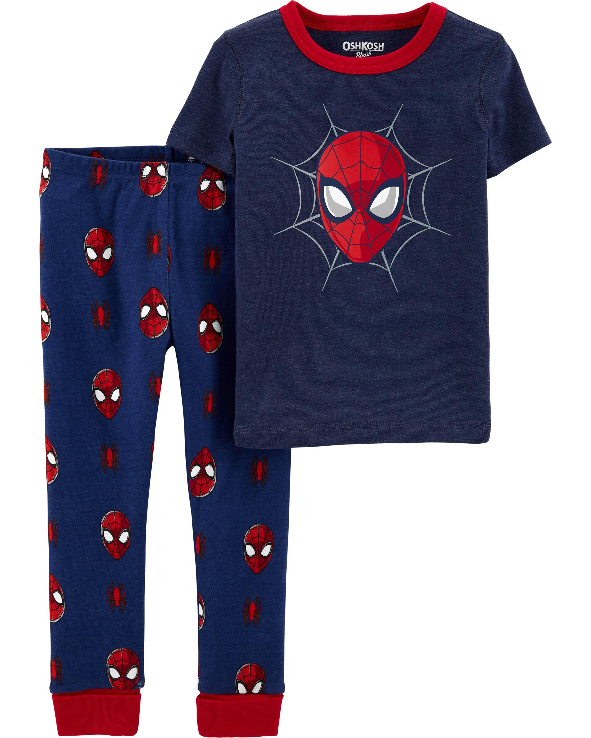 Character Spiderman Blue//Navy 100/% Cotton Pyjama Set