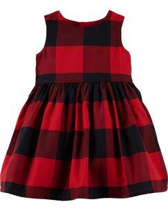 buffalo check holiday dress - Christmas Dress For Girl