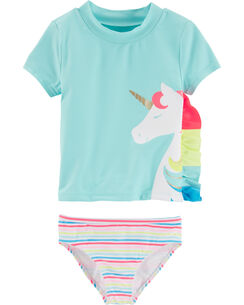fe26f9d8033fb Swimwear. Carter s Unicorn 2-Piece Rashguard Set