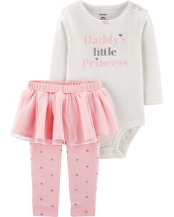 296bec158 2-Piece Princess Bodysuit & Tutu Pant Set