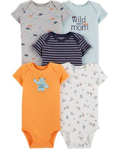 c60fe26aa Baby Boy One-Piece Bodysuits, Multi-Pack Bodysuits | Carter's | Free ...