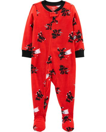 New Carter/'s 1-Piece Construction Poly Pajama PJs Sleeper Toddler Boy