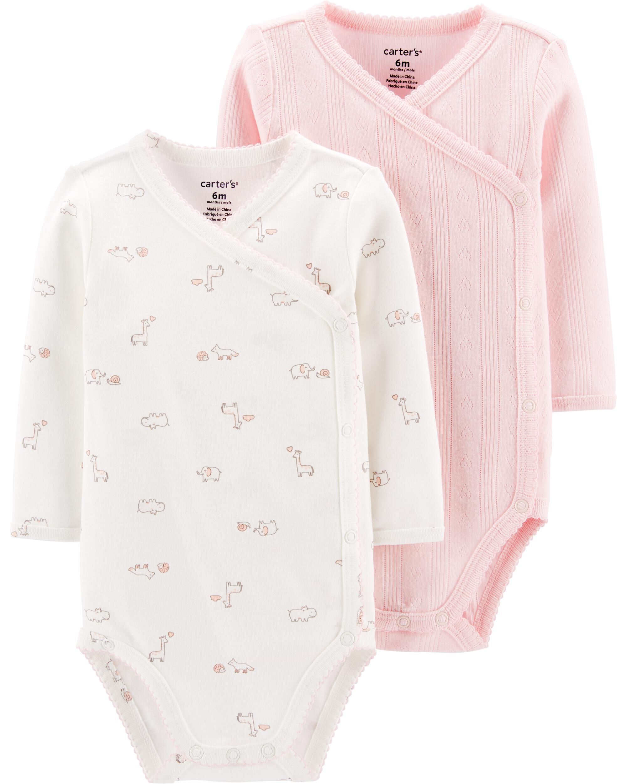 2-Pack Giraffe Side-Snap Original Bodysuits