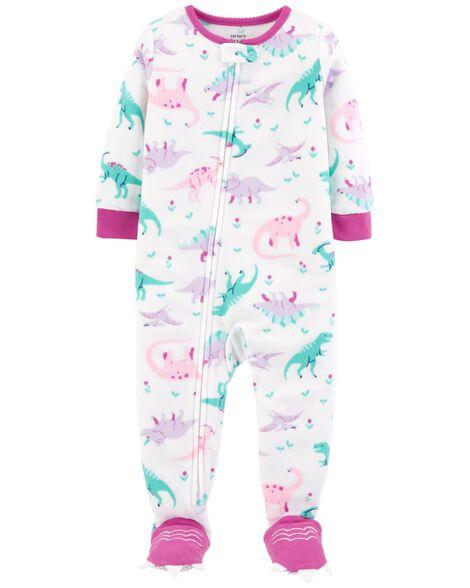 8ff5496c0a7c 1-Piece Dinosaur Fleece PJs
