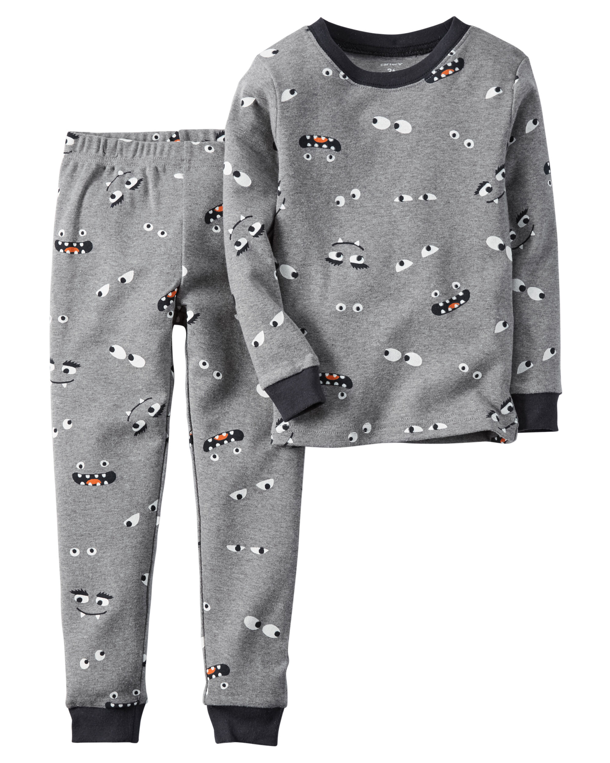 f45768029 2-Piece Glow-In-The-Dark Snug Fit Cotton Halloween PJs