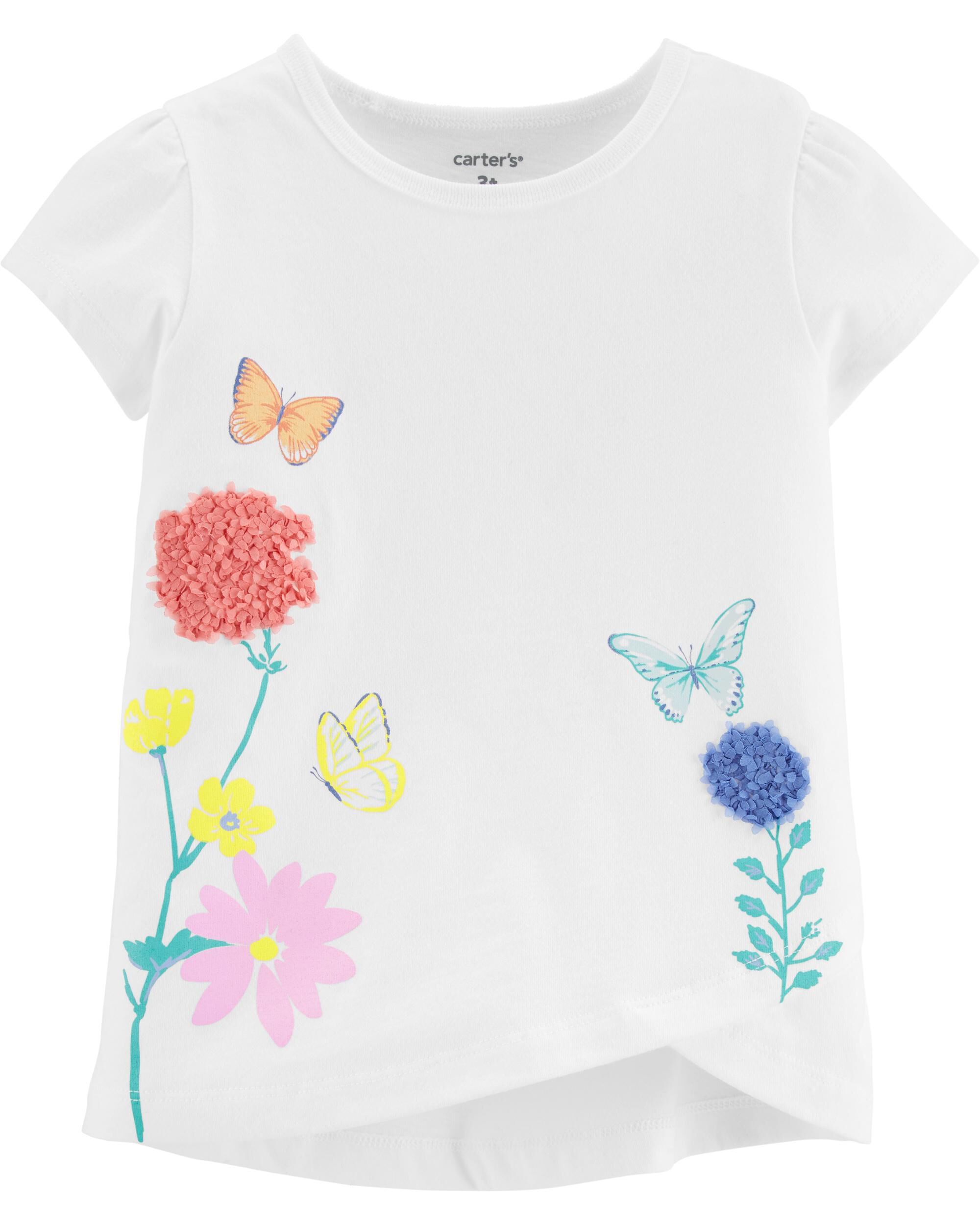 Carters Baby Girls Neon Butterfly Jersey Tee 9 Months