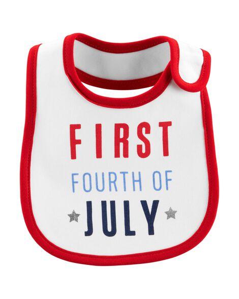 4th Of July Teething Bib