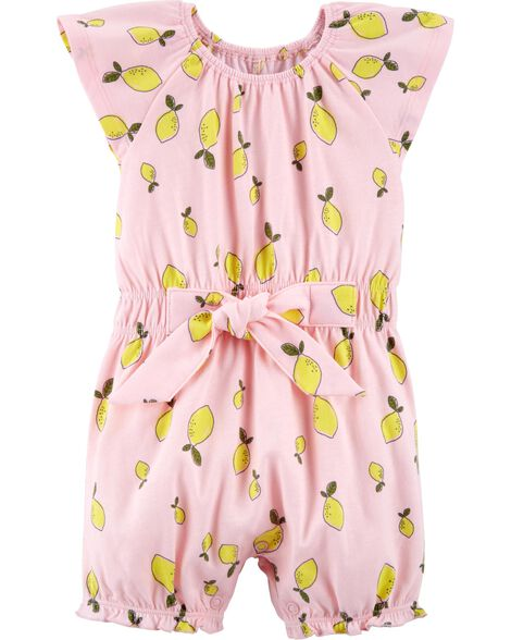 51790595a Baby Girl Certified Organic Lemon Romper | Carters.com