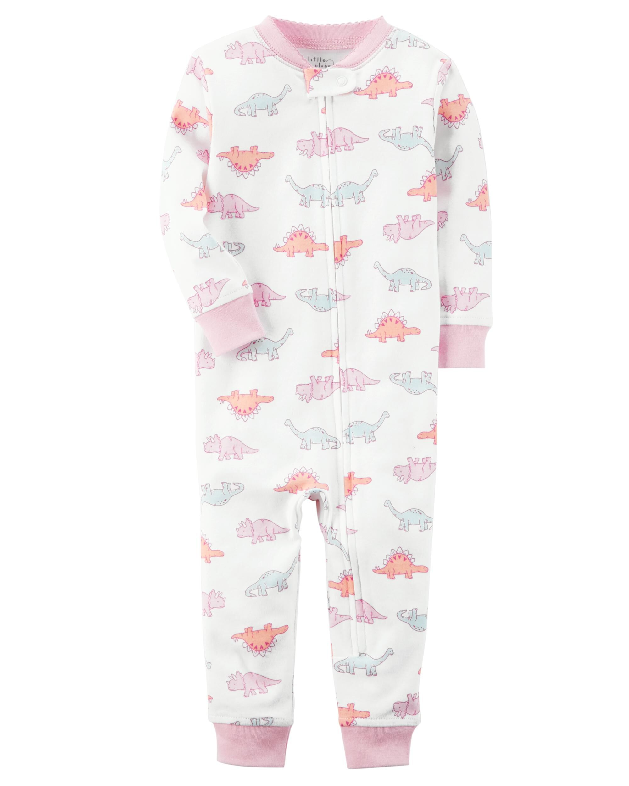 1 Piece Certified Organic Snug Fit Cotton Footless Pjs