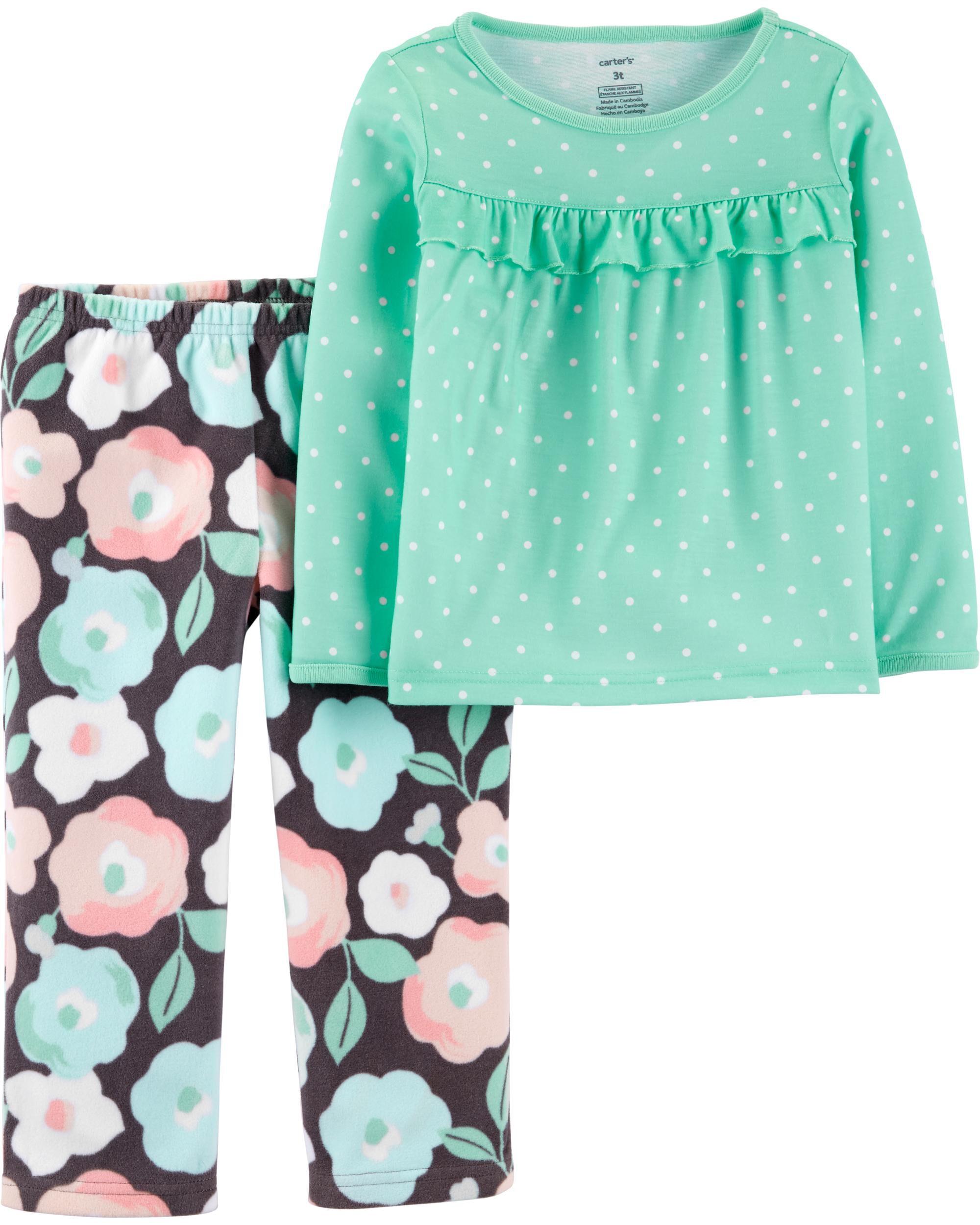*DOORBUSTER* 2-Piece Floral Fleece PJs