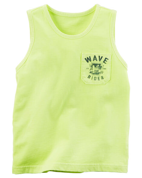fd78f93a Garment-Dyed Graphic Pocket Tank | Carters.com