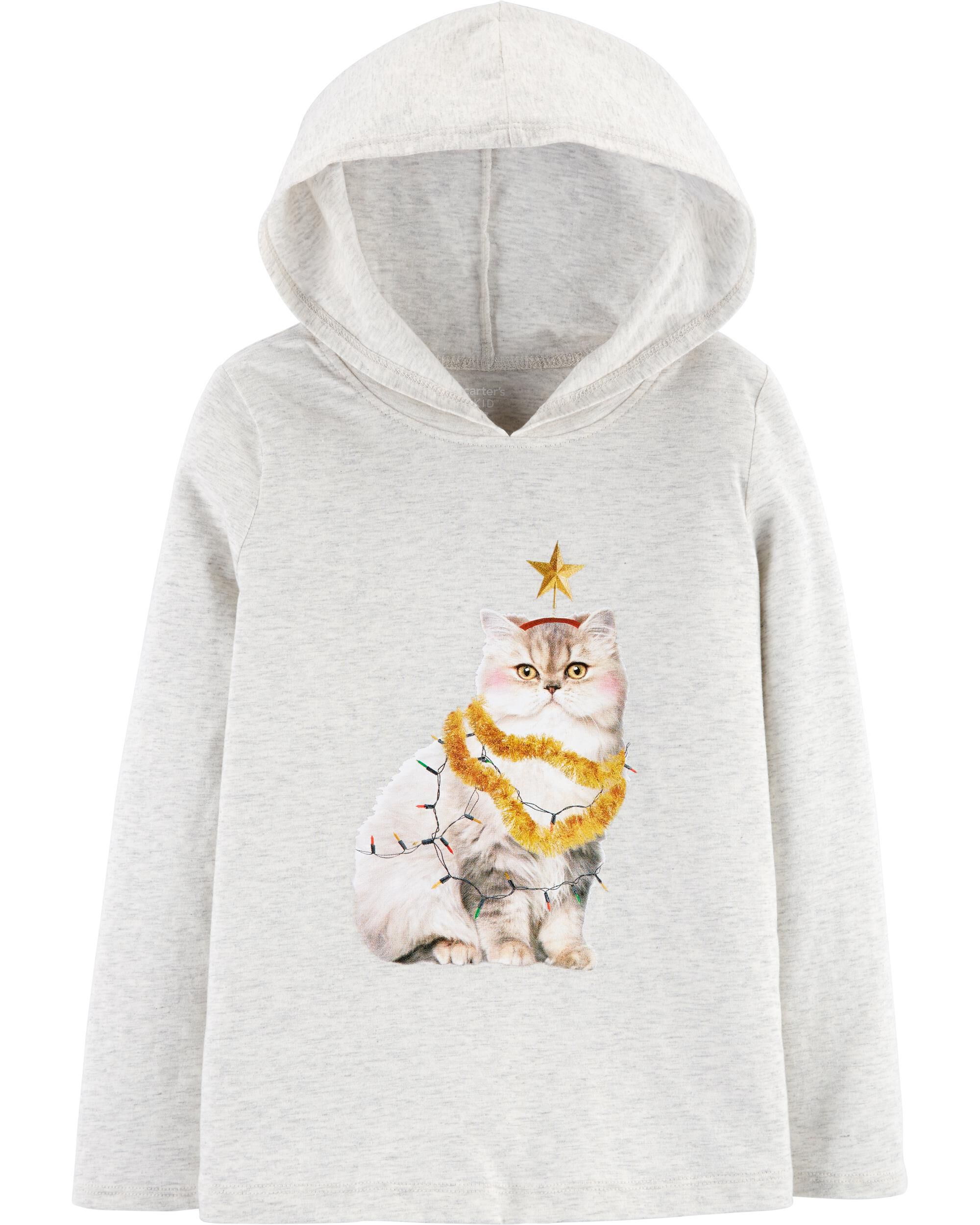 *CLEARANCE* Christmas Cat Hooded Tee