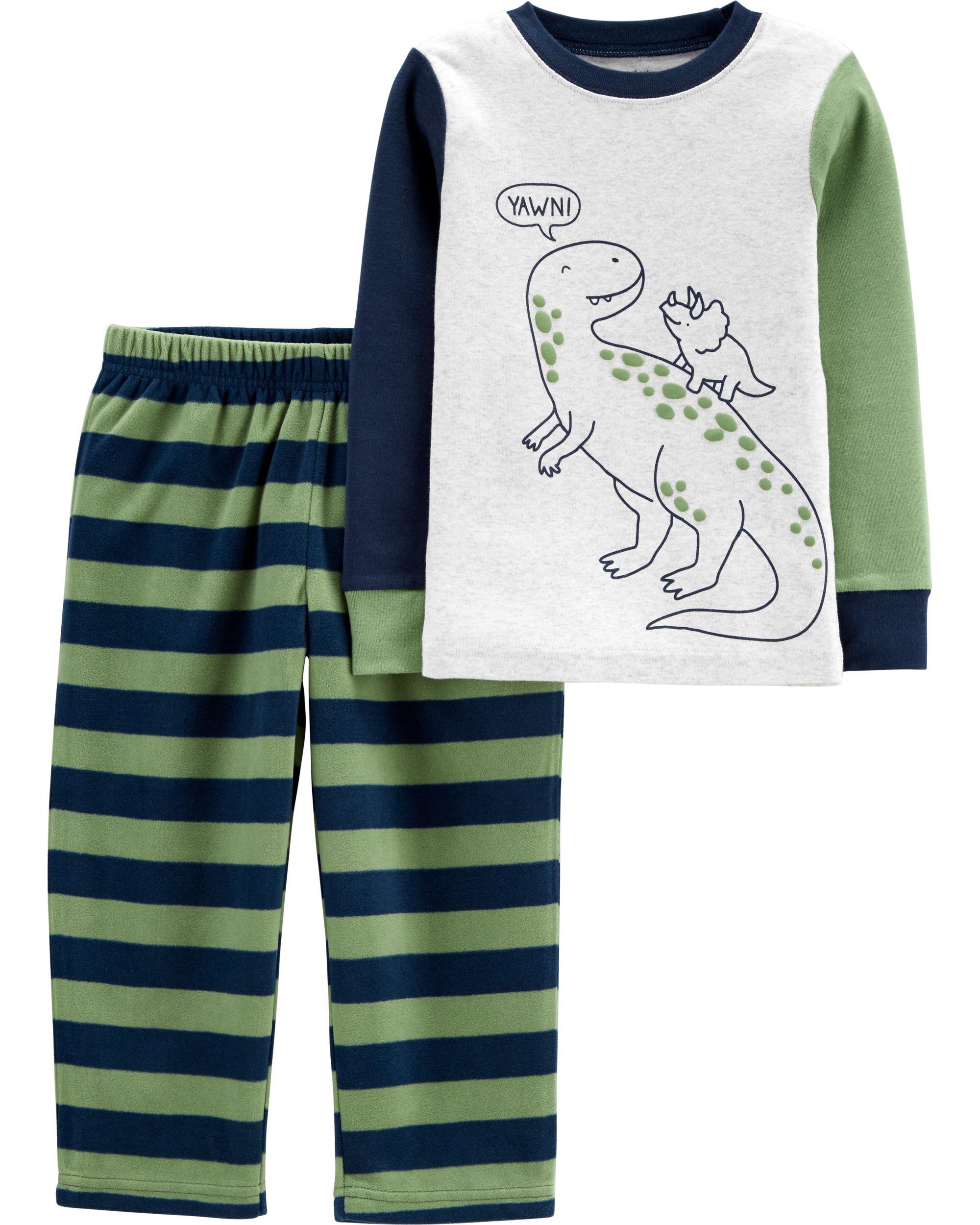 Childrens Pyjamas Long Sleeve Top//Check Pant//Bottom Boys//Kids soft fleece winter