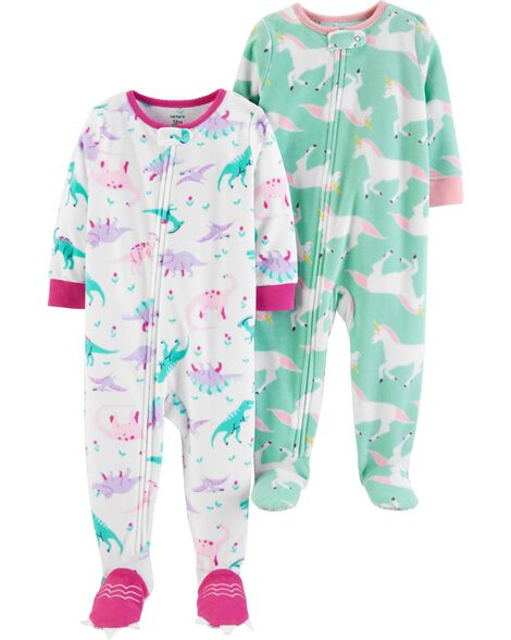 0be4aaf94 2-Pack Fleece PJs