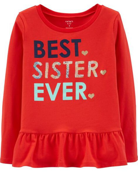 09e7de7e Best Sister Ever Ruffle Tee | Carters.com