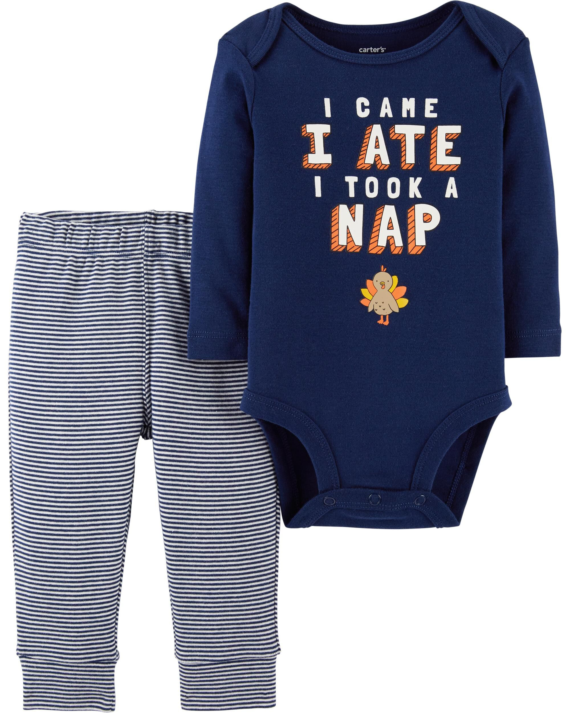 0d8b22d2a 2-Piece Thanksgiving Bodysuit Pant Set