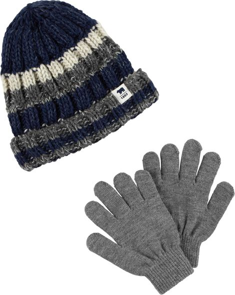 73d2a7c48 Striped Hat   Mitten Set