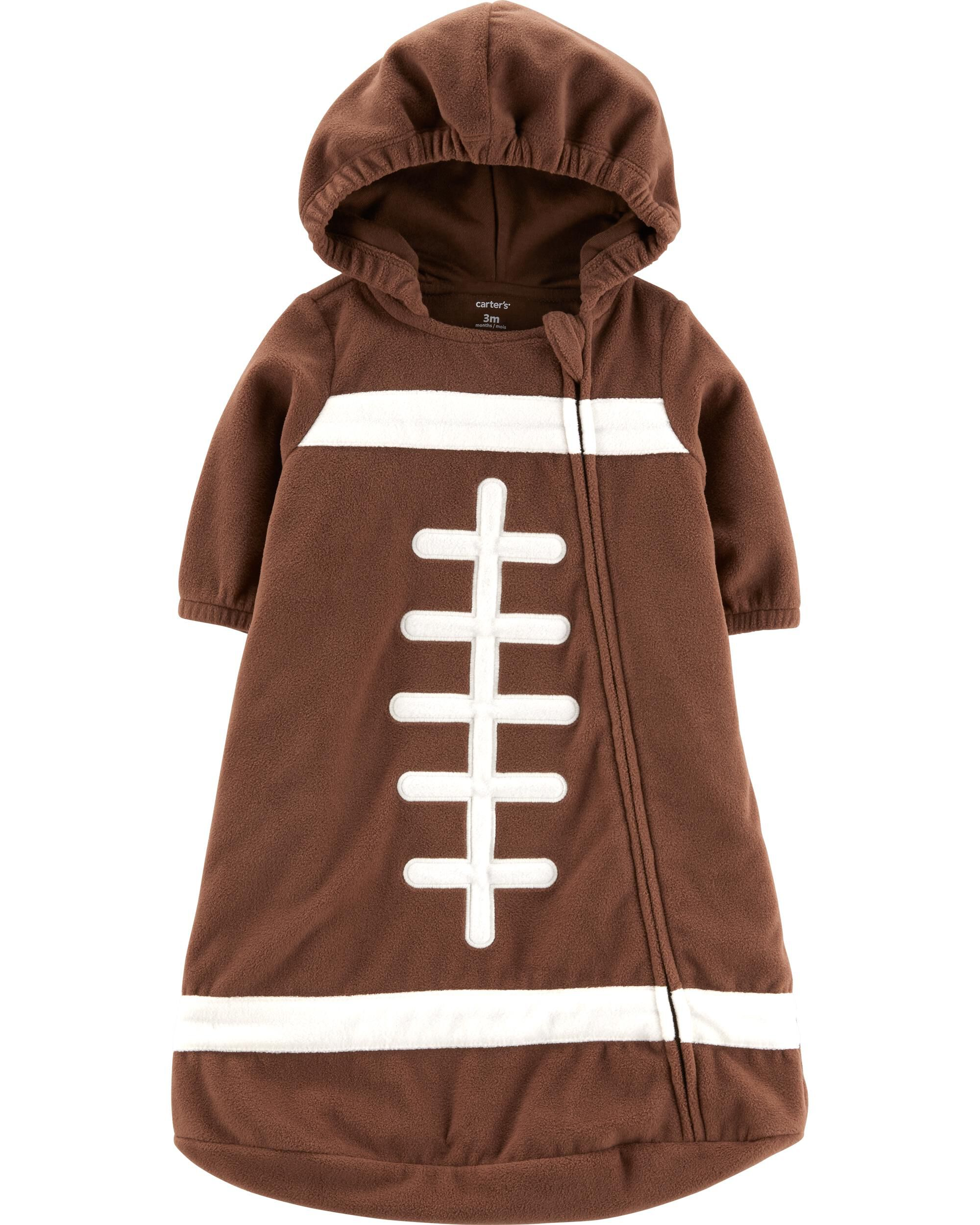 Carter/'s Baby Boys/' Footballs Print Fleece Footie~Sz NB 3,6 /& 9 Mos