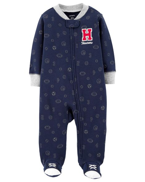 All Star Zip-Up Cotton Sleep & Play