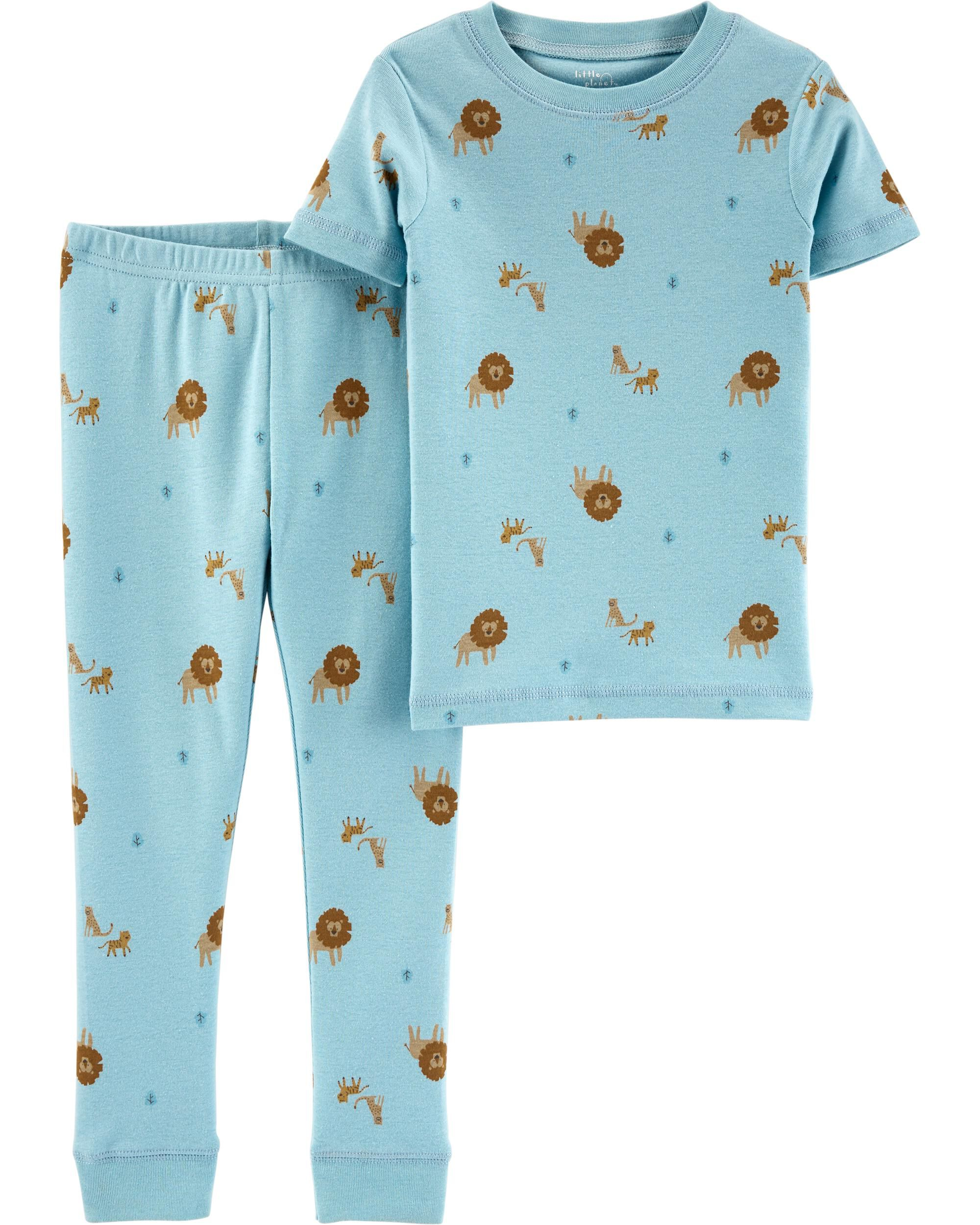 OshKosh BGosh 3-Piece Snug Fit Cotton PJs Cars 9M Black//Orange