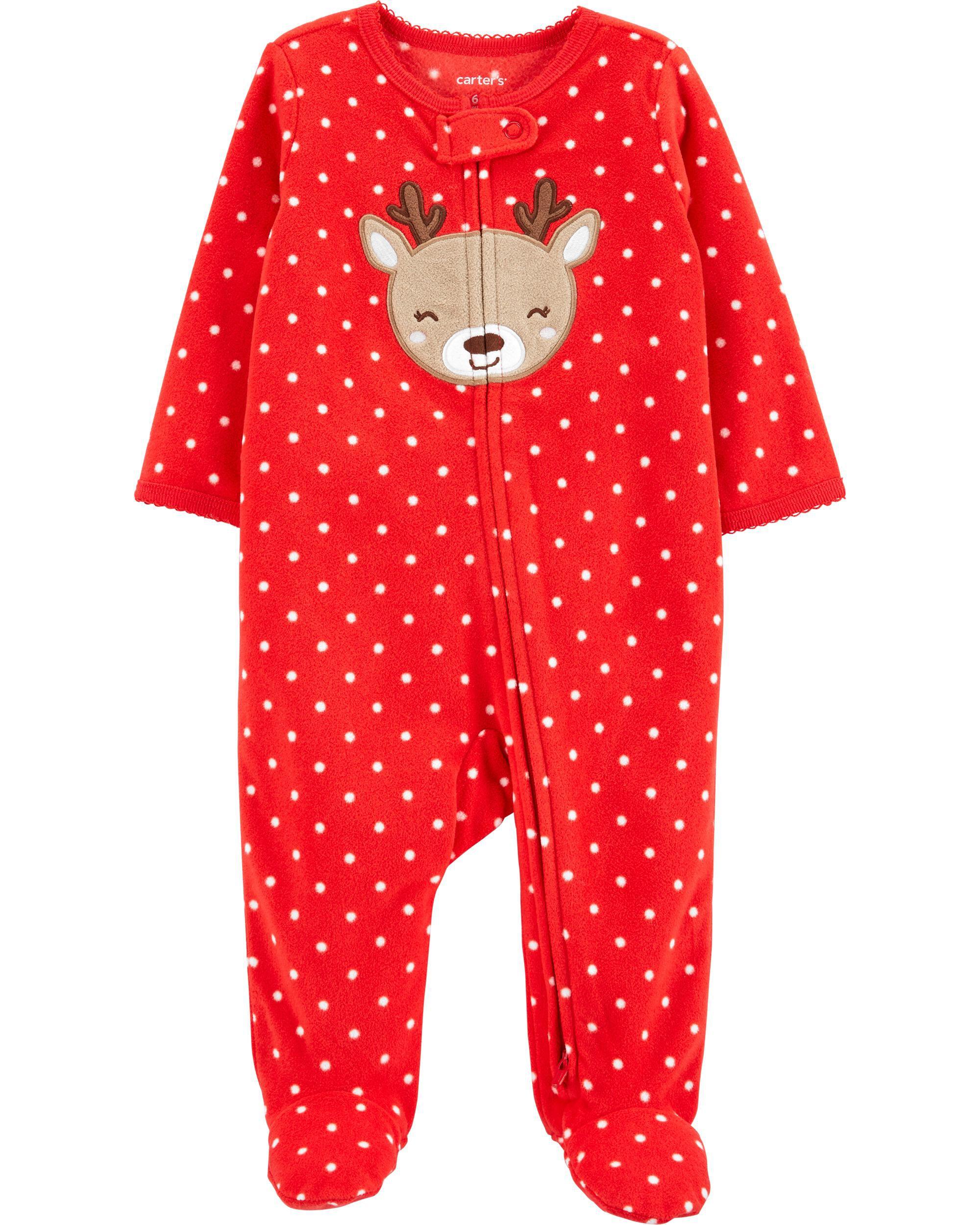 Christmas Zip-Up Fleece Sleep & Play