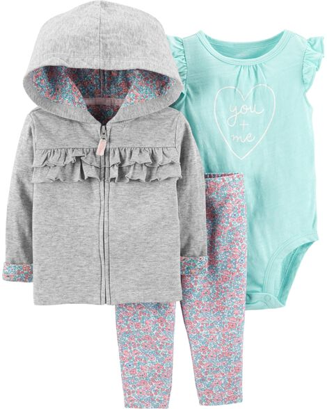 3-Piece Cardigan & Legging Set