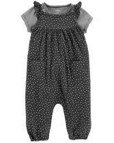 2-Piece Tee & Tank-Style Jumpsuit Set, Color, hi-res
