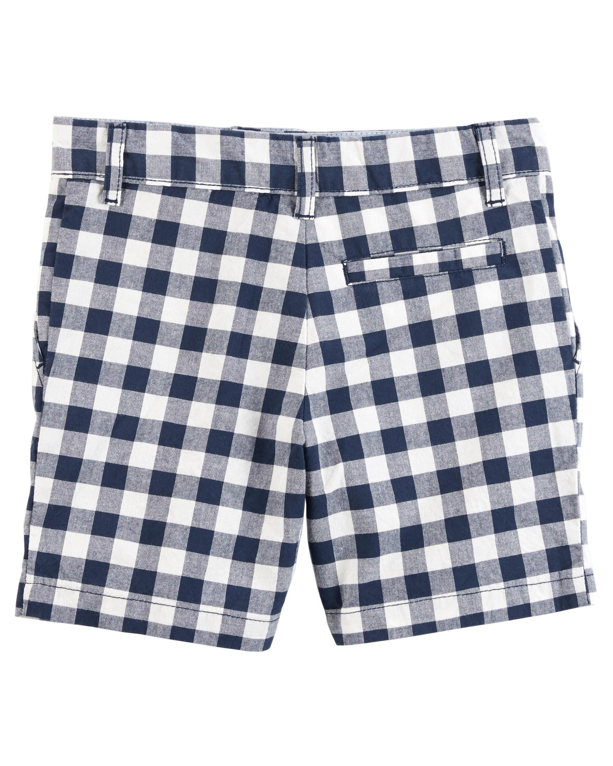 Carter/'s Boy ~ Navy Gingham Chino 100/% Cotton Shorts ~ 5T ~ New w//tag
