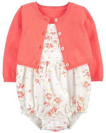 Color Rosa 6 m Conjunto de Vestido para ni/ña Carters Baby Girls Dress 121h131