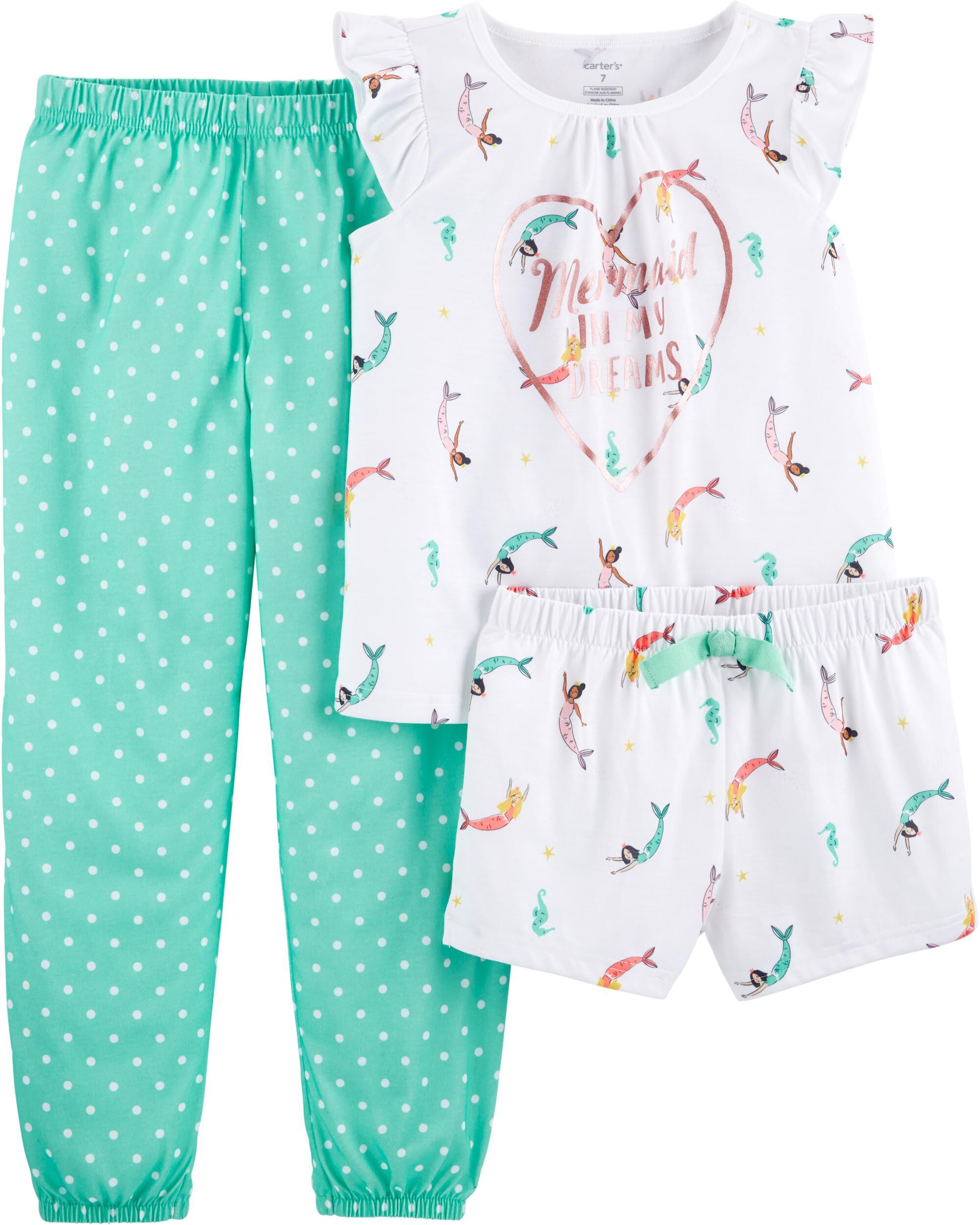 Just One You Girls Teal Gray White Kittens Fleece Pajama Pants 12 Months Sleepwear Girls' Clothing (newborn-5t)