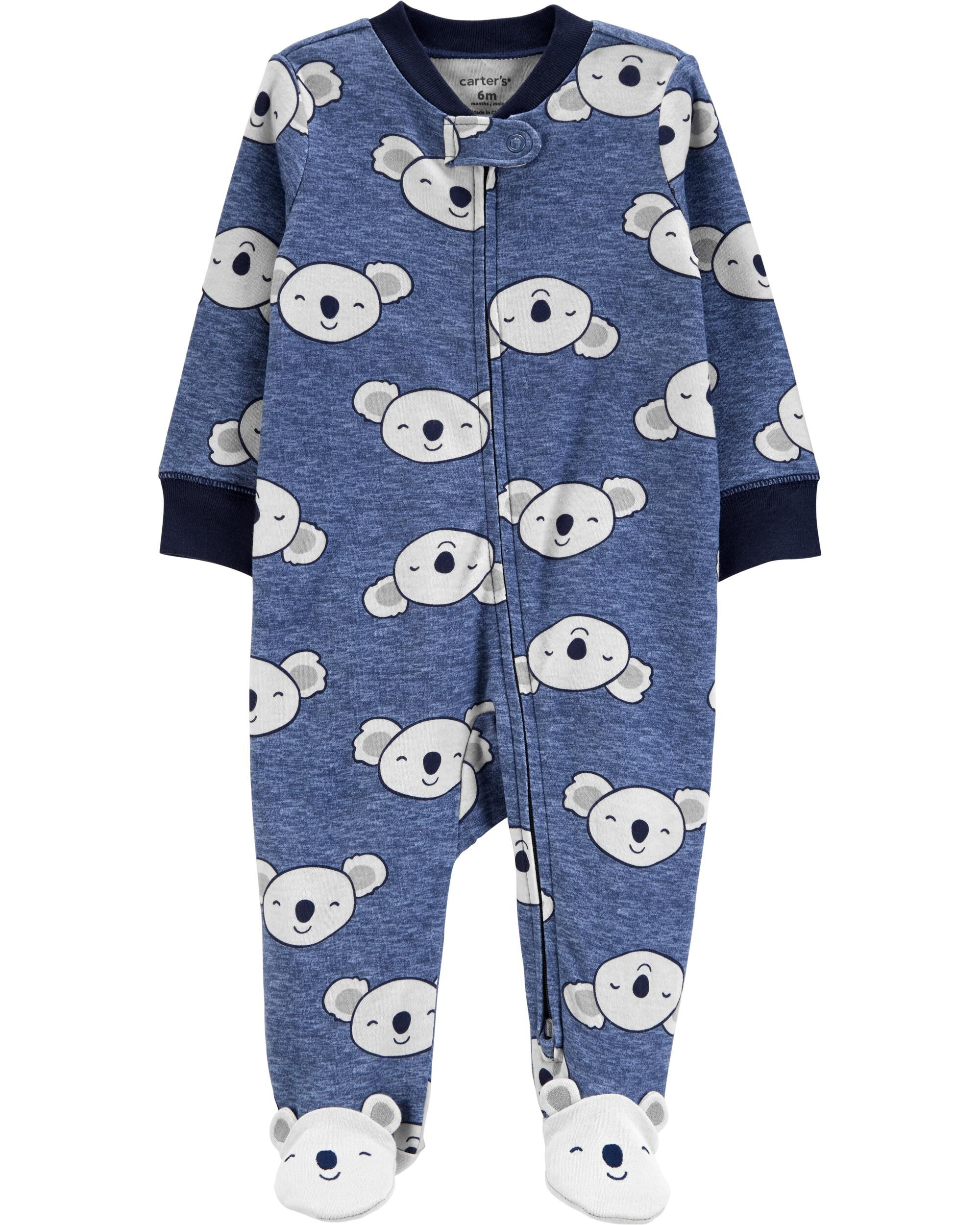 Carter/'s Fleece Jumpsuit Daddys Best Friend Coverall Romper Stripes 9M NWT Dog