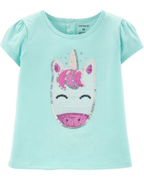 Sequin Unicorn Babydoll Top